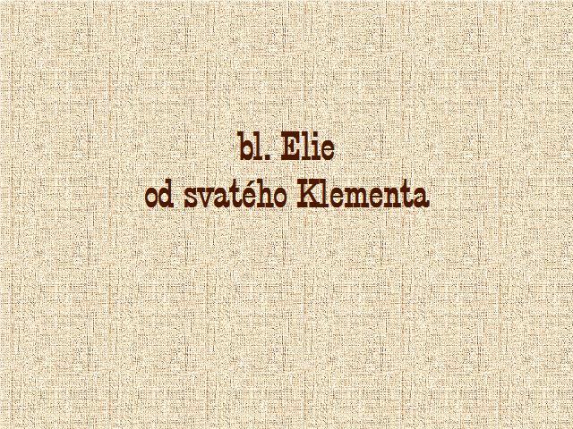 úvod Elie