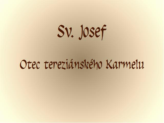 úvod sv. Josef
